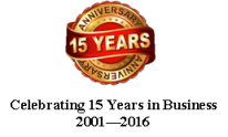 Celebrating 15 Years in Business